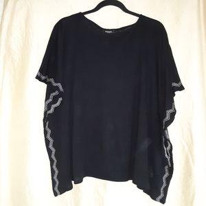Olsen Europe black linen tunic size S/M